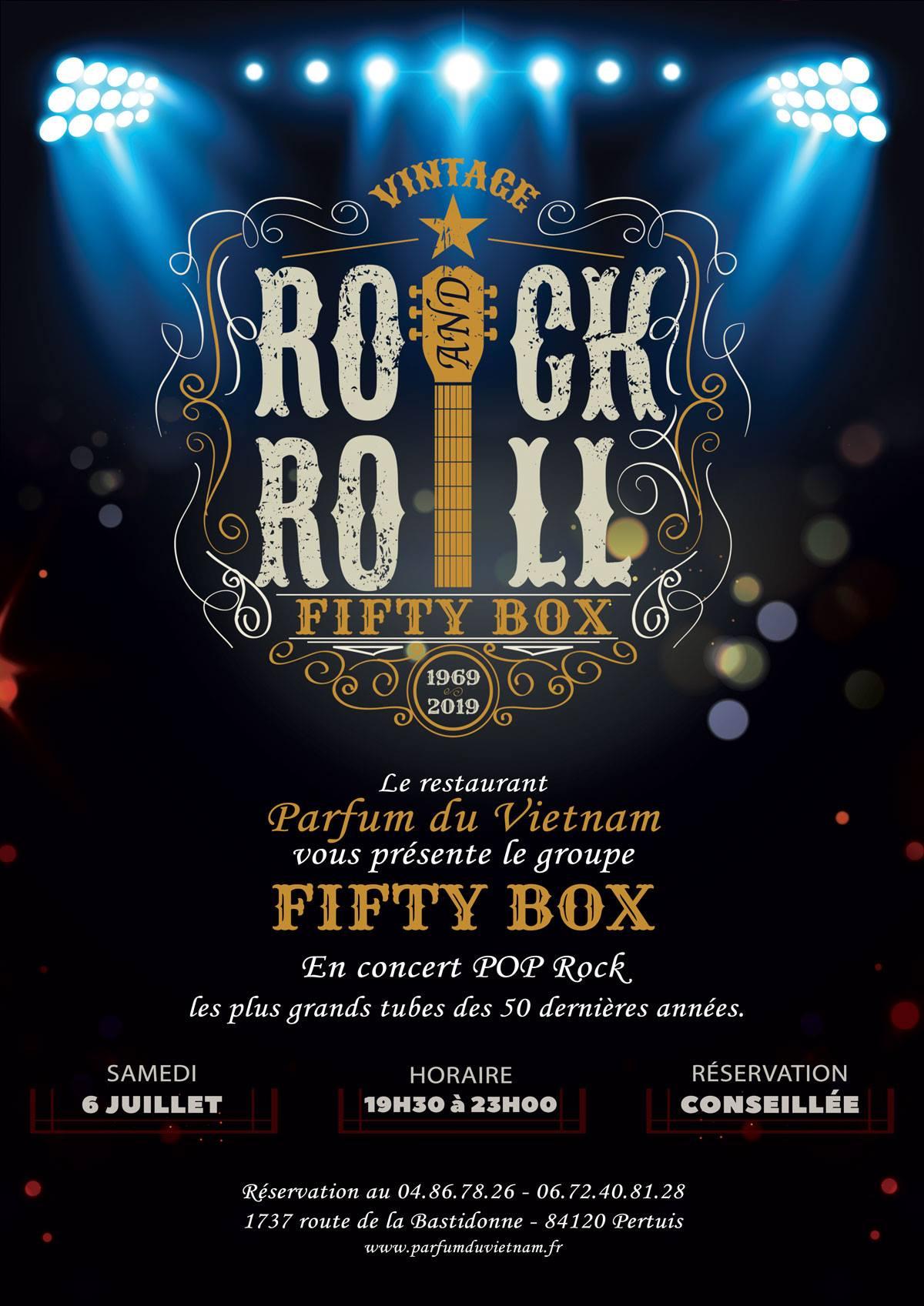Affiche de concert des Fifty-Box